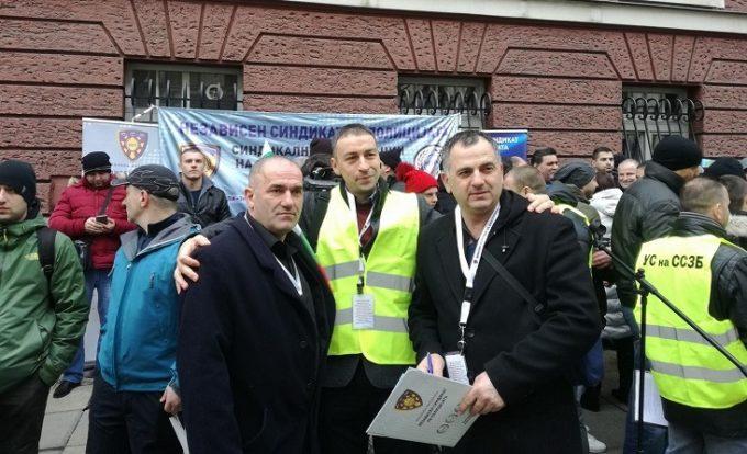 Подршка на НСП на протестот на Бугарските синдикати на Затворска Полиција