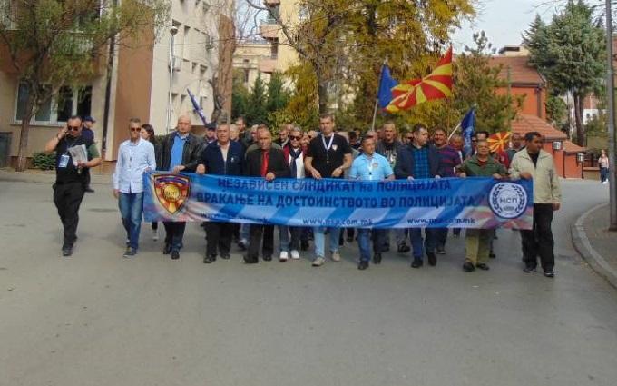 Протестен марш на НСП: Министерот Спасовски да го почитува Законот за работни односи во врска со репрезентативноста на НСП
