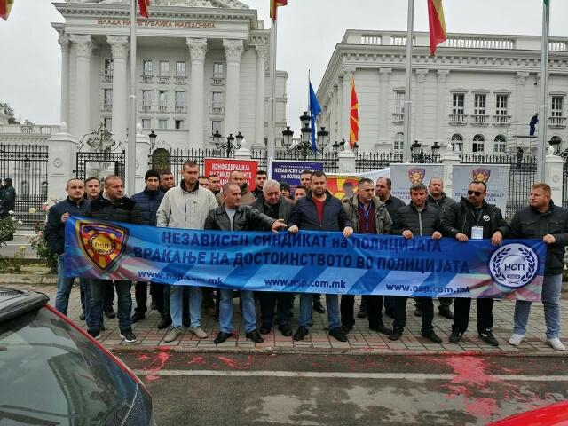 Протестен марш на НСП: Бараме дополнителни 5% зголемување на платите