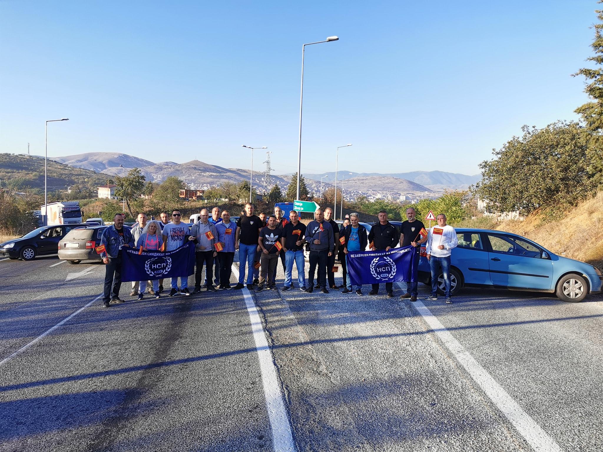 Протести и блокади низ цела Македонија за враќање на ДОСТОИНСТВОТО во Полицијата