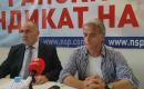 Прес конференција во врска со потпишувањето на срамниот колективен договор